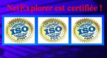 Obtention de la triple certification pour NetExplorer